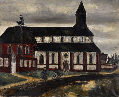 Gaston SEBIRE (1920-2001)  La chapelle  Huile...
