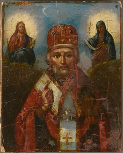 Icône de Saint Nicolas le Thaumaturge  Huile...