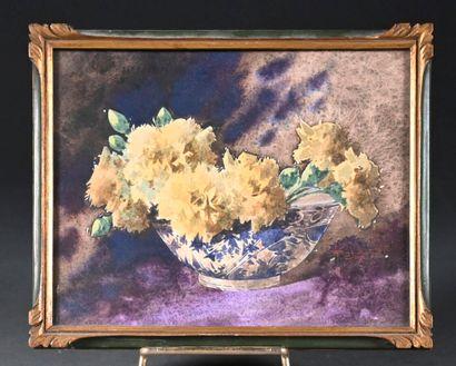 Charles SEITTE (1872-1952)  Fleurs  Deux aquarelles, signées en bas à droite  H....