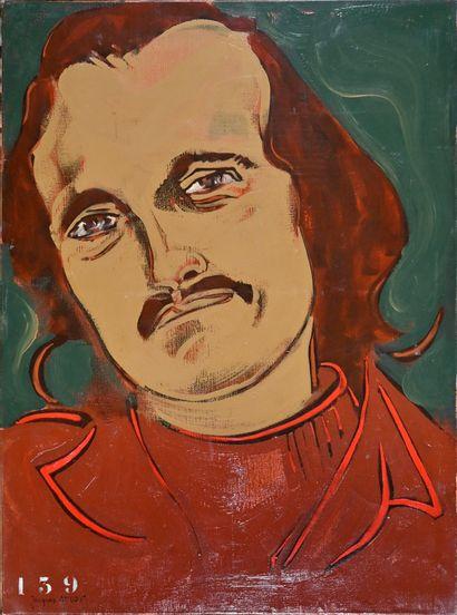 Jacques OUDOT (né en 1938)  Portrait d'Edgar-Allan...