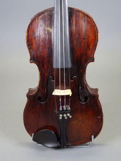 Violon portant étiquette Barabas Melchior...