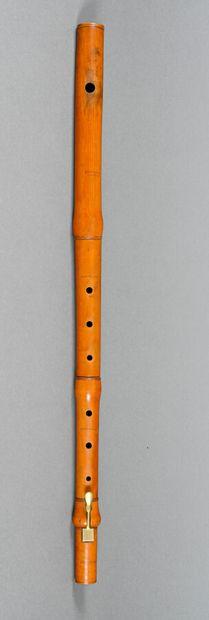 Rare flûte baroque faite par Schuchart London,...