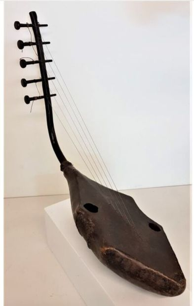 Zandé, RD du Congo  Harpe « Kundi »  Bois,...