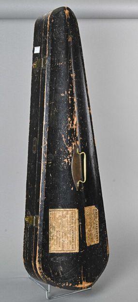 Boîte de violon en bois portant l'étiquette...