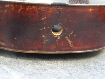 Cello made by Pierre Silvestre in Lyon in 1835 and bearing the label. Rosewood pegs....