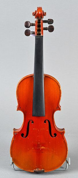Violon 1/4 portant étiquette Stradivarius,...