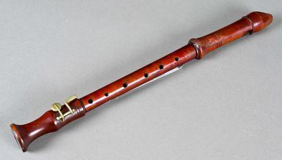 Flûte à bec alto allemande  Fentes