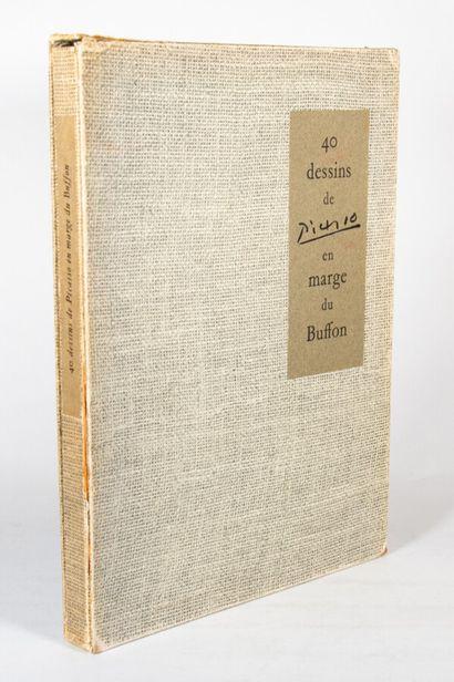 PICASSO (P). 40 drawings in the margin of Buffon.  Paris, Jonquières 1957. In folio...