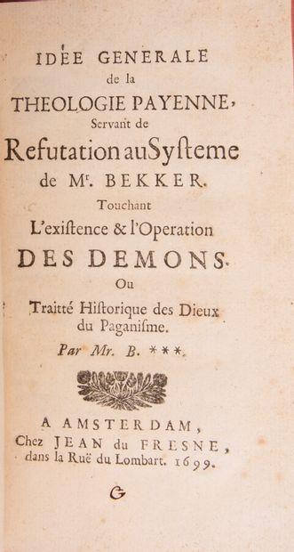 [BINET (Benjamin)]. Idée générale de la théologie...