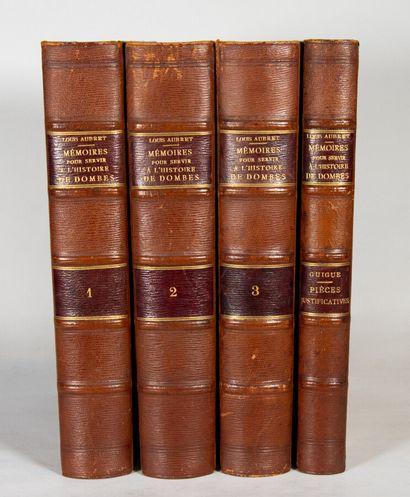 Ain - AUBRET (Louis). Memoirs to serve the history of Dombes. Trévoux, J.-C. Damour,...