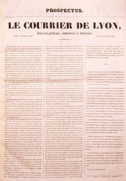 Lyonnais - COURRIER DE LYON (Le), Journal...