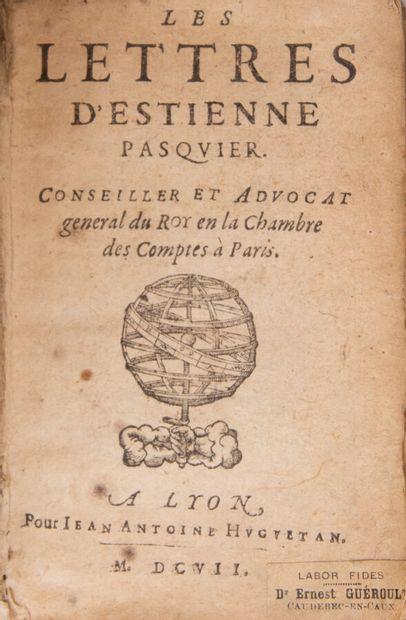 PASQUIER (Etienne). Les lettres.  Lyon, pour...