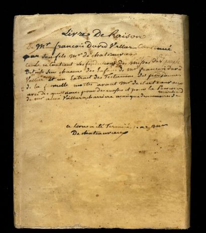 HAUTES-ALPES HAUTES-ALPES. Manuscript of about 50 written pp. (and many blanks)....