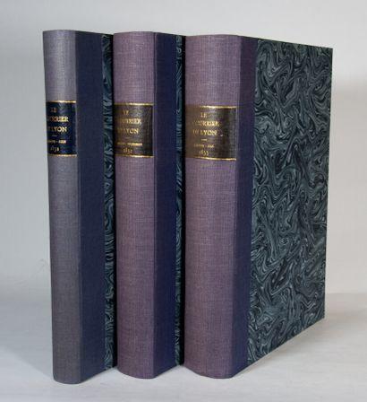 Lyonnais - COURRIER DE LYON (Le), Journal politique, industriel et littéraire. Lyon,...