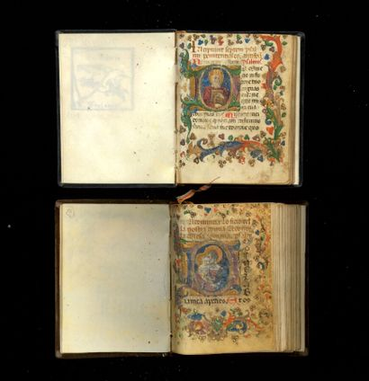 Livre d'Heures LIVRE D'HEURES. 2 manuscrits sur vélin de la première moitié du XVe....