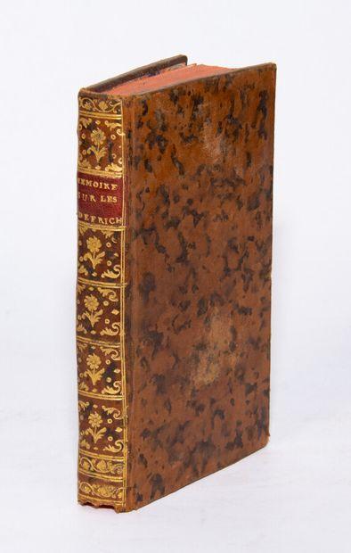 TURBILLY (Marquis de). Memorandum on the defrichemens.  Paris, Veuve d'Houry, 1760....