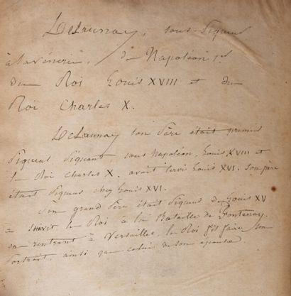 YAUVILLE (D'). Traité de vénerie par M. d'Yauville,...