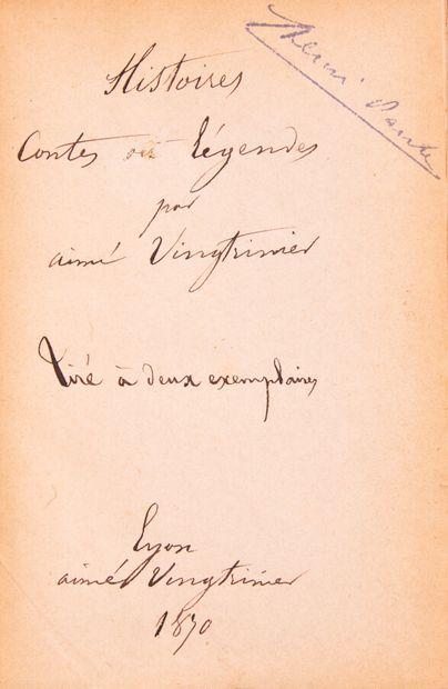 Lyonnais - VINGTRINIER (A). Histoires, contes...