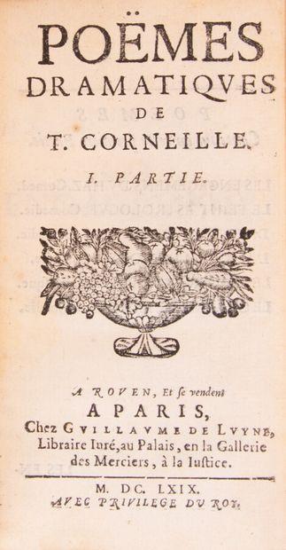CORNEILLE (Pierre). Le théâtre de P. Corneille,...