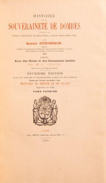 Ain - GUICHENON (Samuel). Histoire de la...