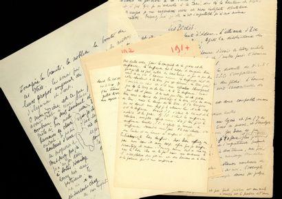 Max JACOB (1876-1944) Max JACOB (1876-1944). Important ensemble de 6 manuscrits autographes....