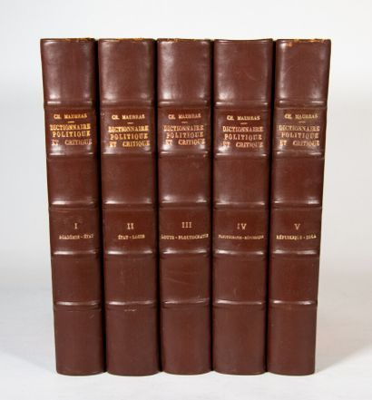 MAURRAS (Charles). Dictionnaire politique...