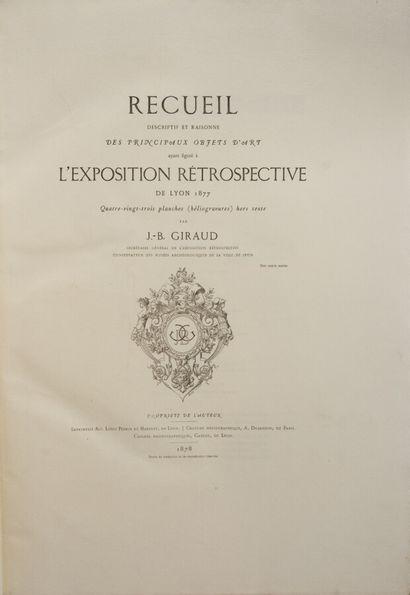 Lyonnais - EXPOSITION LYON 1877. Recueil...