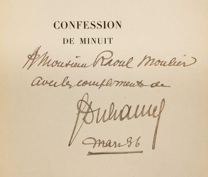 DUHAMEL (Georges). Confession de minuit.  Paris, Henri Jonquières, 1926. In-4°,...
