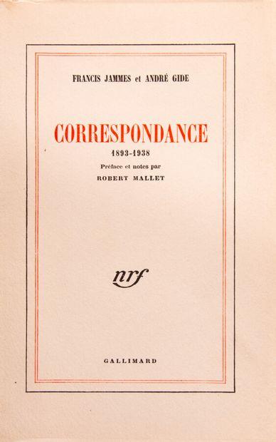 JAMMES (F.) - GIDE (A.). Correspondance 1893-1938....