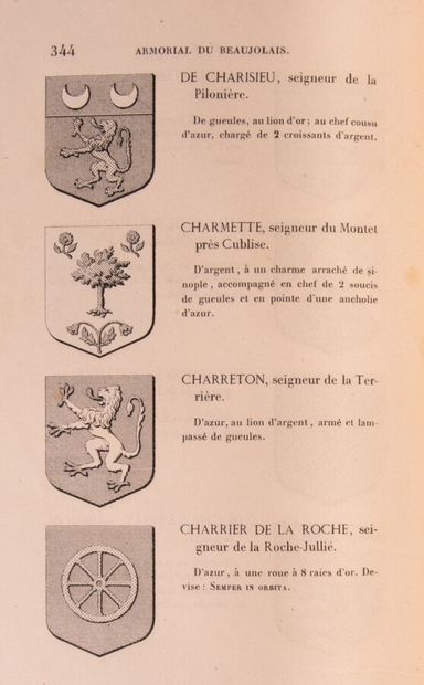 Ain - LA ROCHE LA CARELLE (Baron de). Histoire...