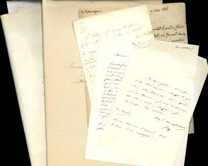 AUTOGRAPHES DIVERS VARIOUS AUTOGRAPHS. Set of 78 letters from historians, chartists...