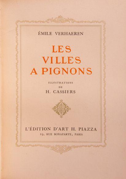 VERHAEREN (Emile). Les villes à pignons. Illustrations by H. Cassiers.  Paris, Piazza,...