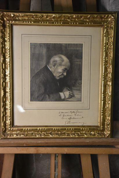 Georges clemenceau Georges CLEMENCEAU. Portrait dédicacé, dans un encadrement en...