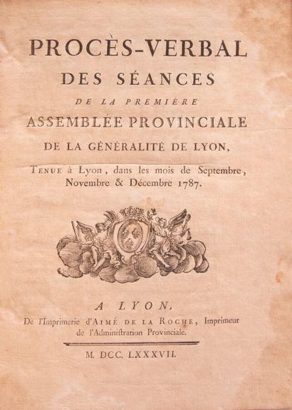 Lyonnais - PROCES-VERBAL des séances de la...