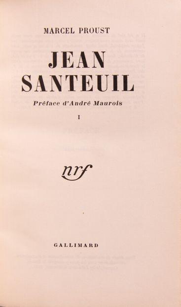 PROUST (M.). Jean Santeuil.  Paris, Gallimard,...