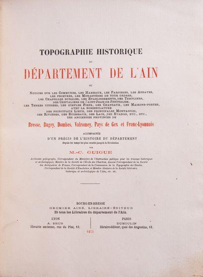 Ain - GUIGUE (M. C.). Topographie historique...