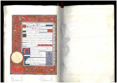 MANUSCRIT ENLUMINÉ - SAINT-QUENTIN ILLUMINATED MANUSCRIPT - SAINT-QUENTIN. Manuscript...