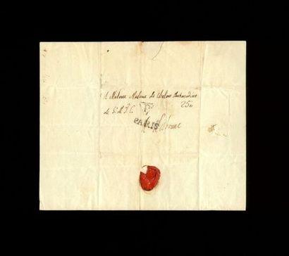 """LOUIS XVI LOUIS XVI. Lettre autographe (non signée), adressée à """" Madame de Chalons..."""