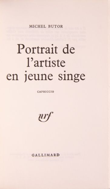 BUTOR (Michel). Portrait de l'artiste en...
