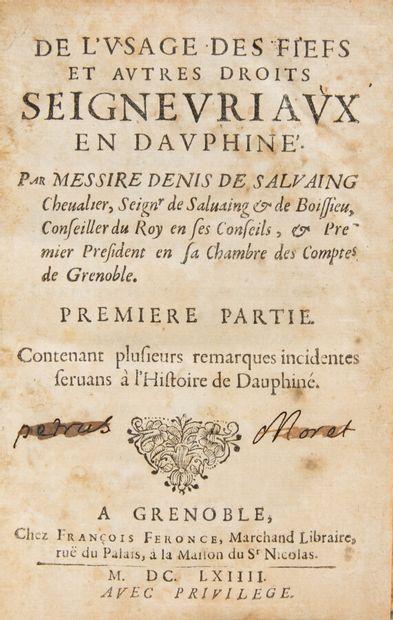 Alpes Savoie Dauphiné - SALVAING DE BOISSIEU...