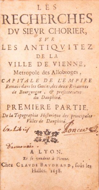 Alpes - Savoie - Dauphiné - CHORIER (Nicolas)....