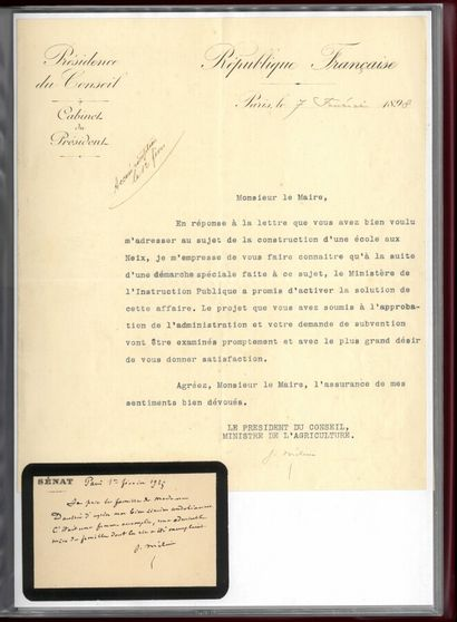 HISTOIRE HISTORY. Set of 25 letters (+ qq. cards) of political personalities of the...