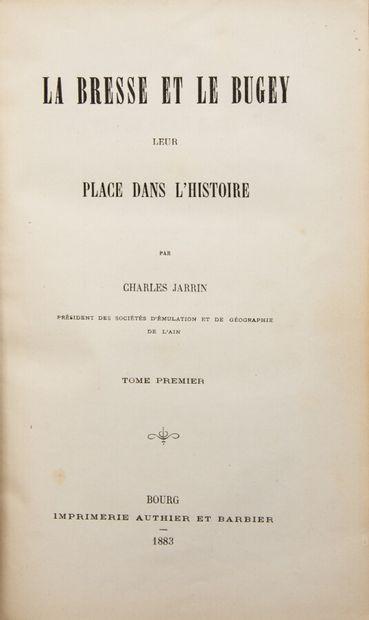 Ain - JARRIN (Charles). La Bresse et le Bugey,...
