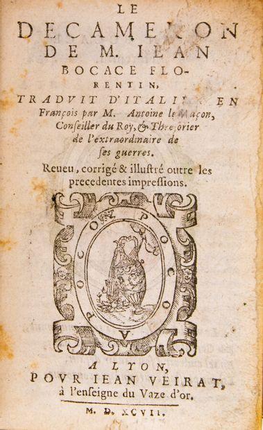 BOCCACE. Le Décaméron, traduit d'italien...