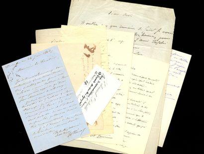 ARTISTES ET ARCHITECTES ARTISTS AND ARCHITECTS. Set of 8 autograph letters signed...