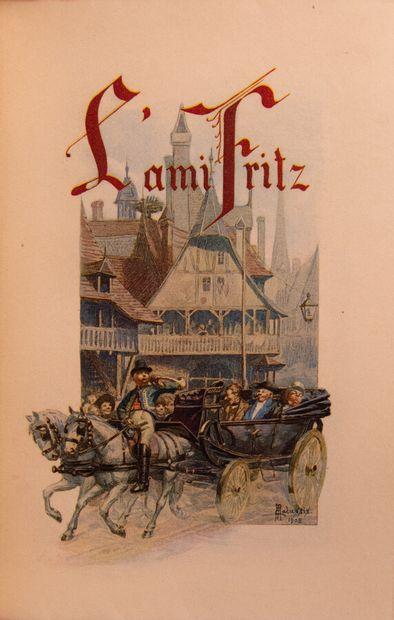 ERCKMANN-CHATRIAN. L'Ami Fritz.  Paris, Louis Conard, 1909. In-8°, maroquin acajou,...