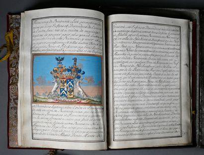 MARIE-THÉRÈSE D'AUTRICHE MARIE-THÉRÈSE D'AUTRICHE. Manuscrit signé, calligraphié...