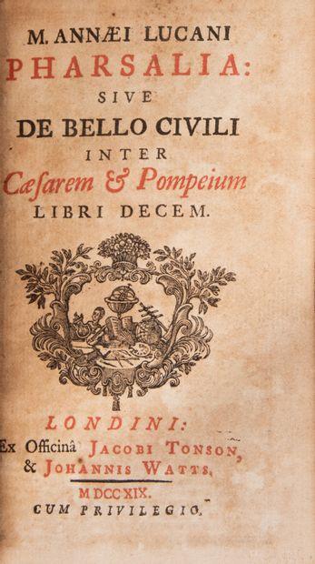 LUCAIN. Pharsalia sive de Bello civili inter...