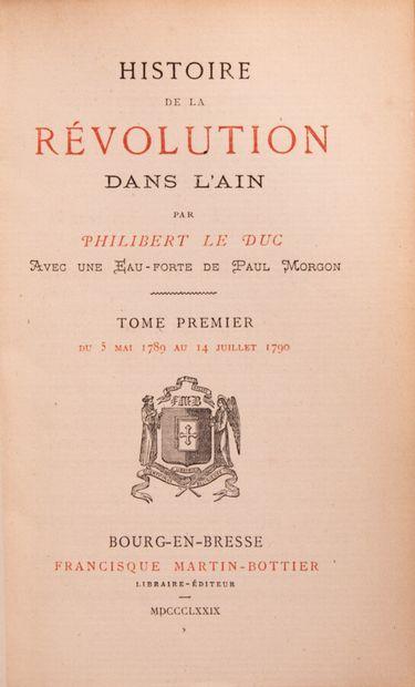 Ain - LE DUC (Philibert). Histoire de la...