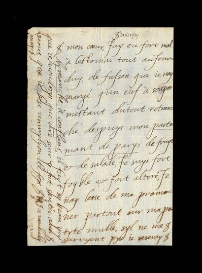 HENRI IV (1553-1610), roi de France HENRI IV (1553-1610), roi de France. Lettre autographe...